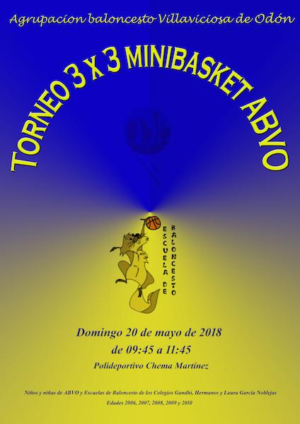 TORNEO 3 X 3 MINIBASKET